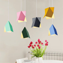 Modern Lights Color Wrought Iron LED Chandeliers Bedroom Living Room Office Pendant Lamps Lighting Fixtures Decoration Luminaria