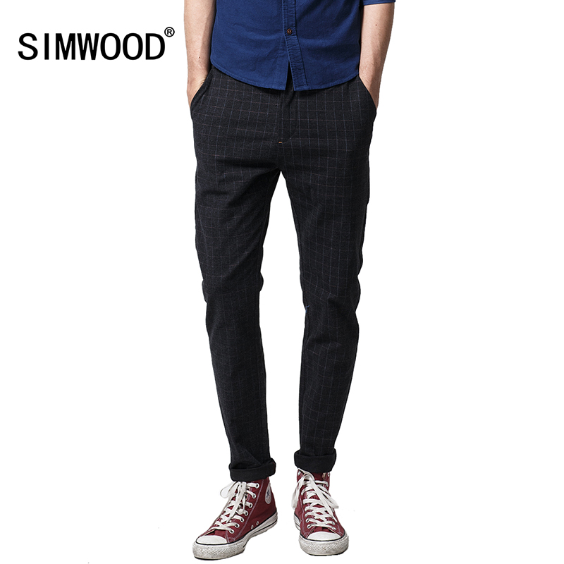 New 2016 Spring Fashion Plaid Pants Men Outdoors Plus Size Men Long Trousers Casual Masculina Men