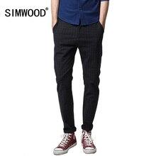 Simwood Новый 2017 autumnfashion штаны в клетку Для мужчин на открытом воздухе плюс Размеры Для мужчин длинные Мотобрюки Повседневное masculina Мотобрюки KX390