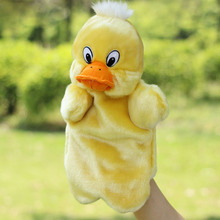 Yellow Duck Hand Puppets Toys Baby Children Story Learning Educational Plush Puppets Dolls Brinquedos Marionetes Fantoche 1pc