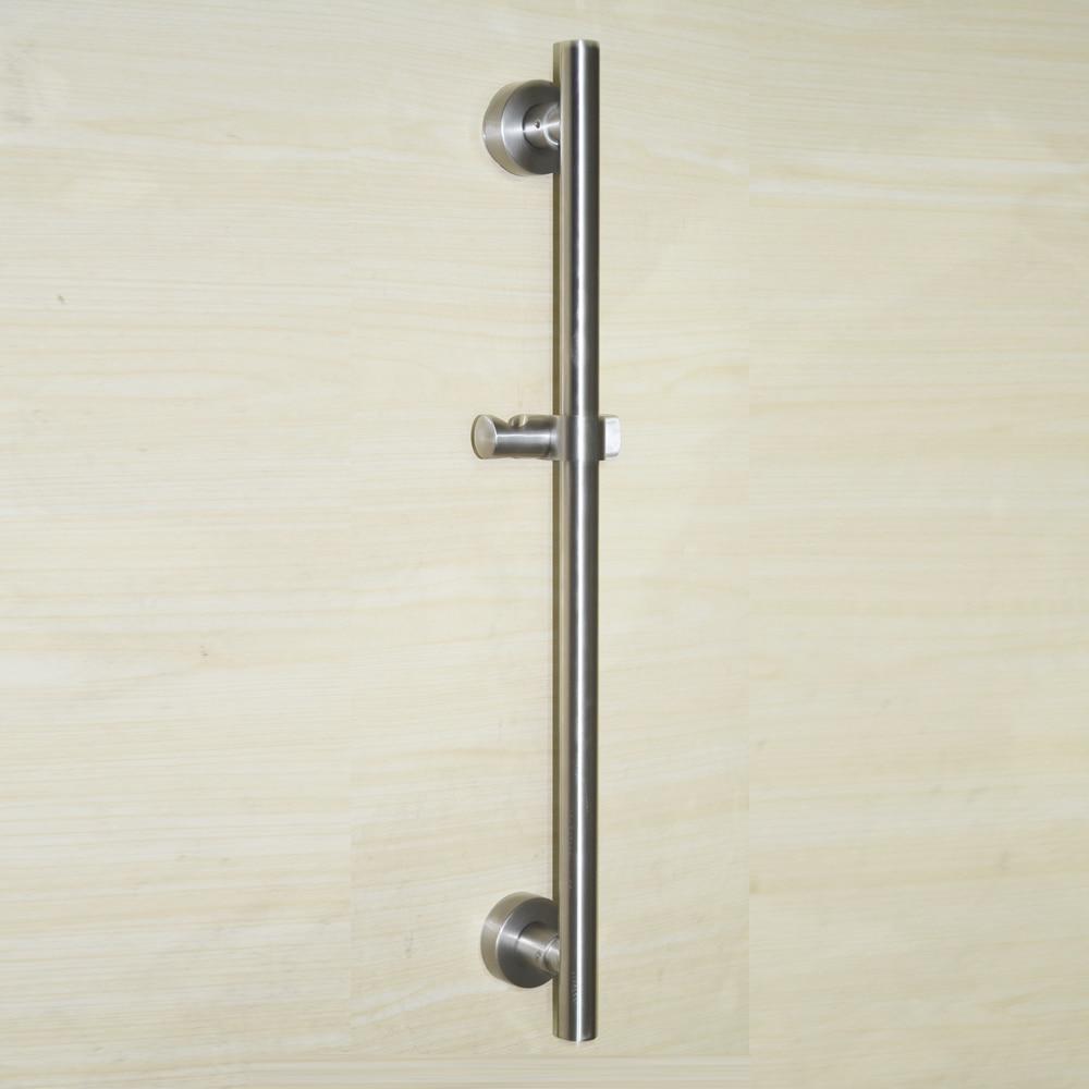 ФОТО High-grade solid stainless steel shower sliding bars sets,length is 62.5cm, nickle brushed,shower head holder