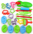 Free Shipping  23 Pieces Color Play Dough Model Tool Toys Creative 3D Plasticine Tools Playdough Set