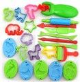 O Envio gratuito de 23 Peças Cor Ferramentas Plasticina Playdough Massinha Ferramenta Modelo Brinquedos Criativos 3D Conjunto
