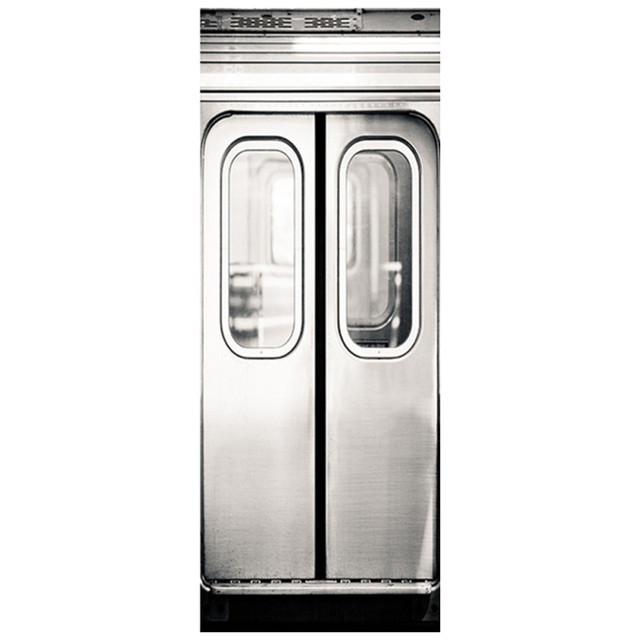 77*200cm Fake 3d Subway Gate Wall Stickers For Smooth Door Murals Home  Living Room