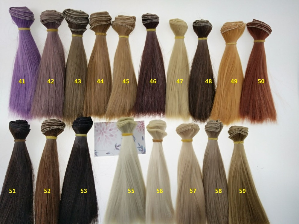 Doll Wigs Long Straight High Temperature Fiber BJD SD Wigs DIY Hair For Dolls #46-61 15cm*100cm And 25cm*100cm
