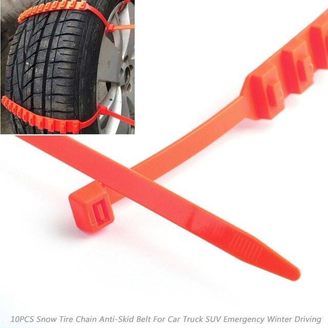 Areyourshop-ceinture antidérapante pour voiture   10/20-40 pièces, chaîne de pneus de neige, ceinture pour camion SUV, conduite dhiver durgence, auto-croix pour lextérieur