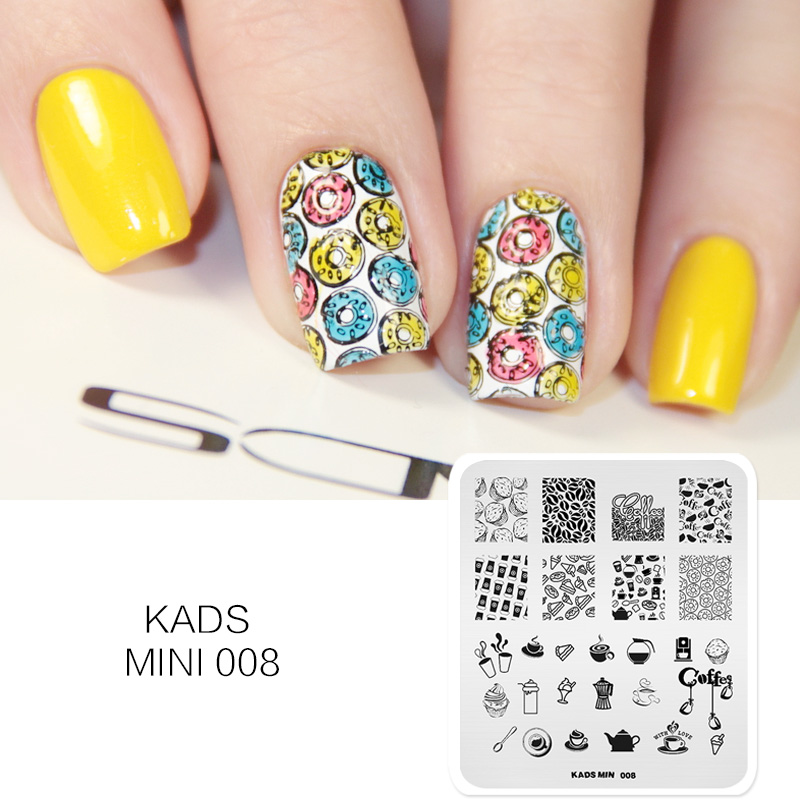 kads nail stamp cupcake with donuts