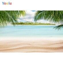Yeele Tropical Island Sea Beach Sand Palm Tree Holiday Scenic For Photo Studio Backgrounds Photography Backdrops Seaside Scenery