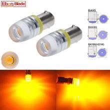 Lâmpada led para carro 2 x ba9s, t4w, bax9s, h6w, bay9s, h21w, mapa do interior, luz de cunha lateral amarelo âmbar 6v 12v 24v