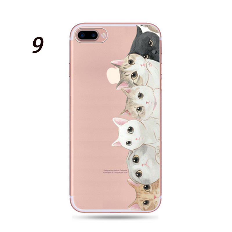 22804e58a1 Hot Sale Clear Cute High Quality Cat Animals Pattern Phone Cases For iPhone  Shell 5 5s SE 6 6s 7 8 X Plus Protective Coque-in Half-wrapped Case from ...