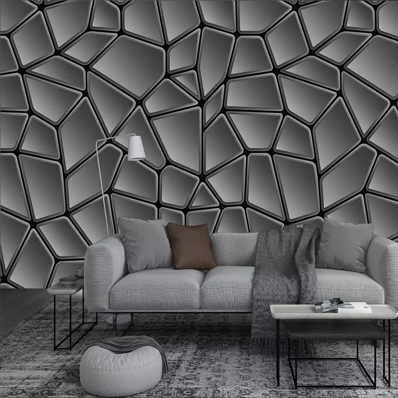 Custom Mural Wallpaper Modern Simple Abstract Geometry Black Art Wall Painting Living Room Bedroom Background Wall Decor Fresco Wallpapers Aliexpress