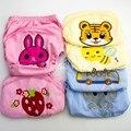 Do Bebê Do algodão Fraldas Laváveis Fraldas de Pano Capa de Tecido Crianças Bebê dos desenhos animados Crianças saco de Fraldas Reutilizáveis Calças de Treinamento