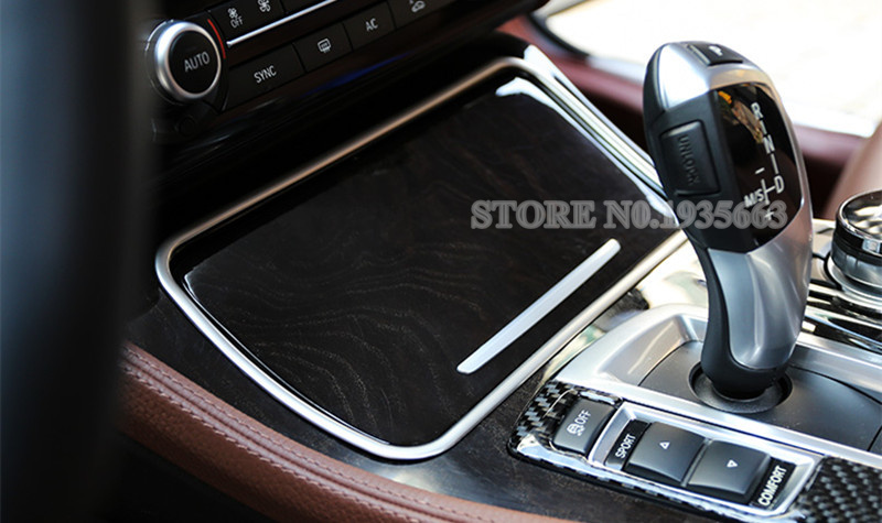 Steel Center Console Speaker Cover trim 1pcs For BMW 5 Series F10 2011-2015