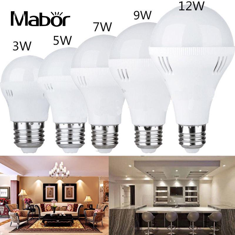 Mabor 3W-12W Light Bulb Bright Home Room with Hook Lighting Fixture PC & Acrylic Emergency Lamp LED Bulb Indoor Outdoor 5730