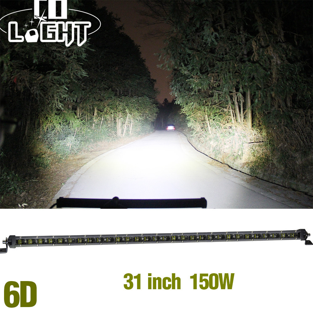 CO LIGHT 6D 31Inch Led Bar 150W Auto Led Work light Bar for Off Road 4x4 ATV SUV Driving Motorcycle Truck Toyota Combo Led Beams 2pcs dc9 32v 36w 7inch led work light bar with creee chip light bar for truck off road 4x4 accessories atv car light