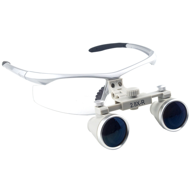 d21ed89cf844 Spark 2.8x Magnification Professional Loupes with Silver BP Sports Frame  for Dental