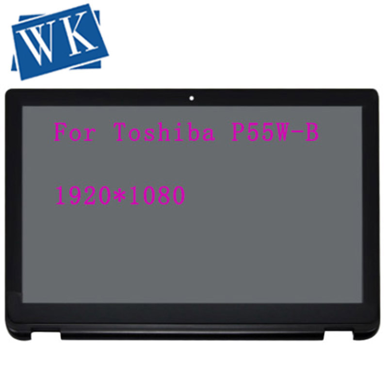 For Toshiba Satellite Radius P55W-B Series P55W-B5318 P55W-B5162 Full LCD Screen Display Touch Glass Digitizer Assembly+Bezel