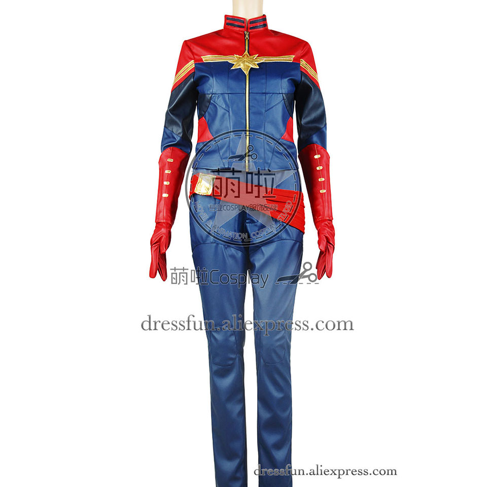 Captain Marvel Cosplay Carol Danvers Costume New Uniform Outfits Suit Full Set Halloween Fashion Party Fast Shipping