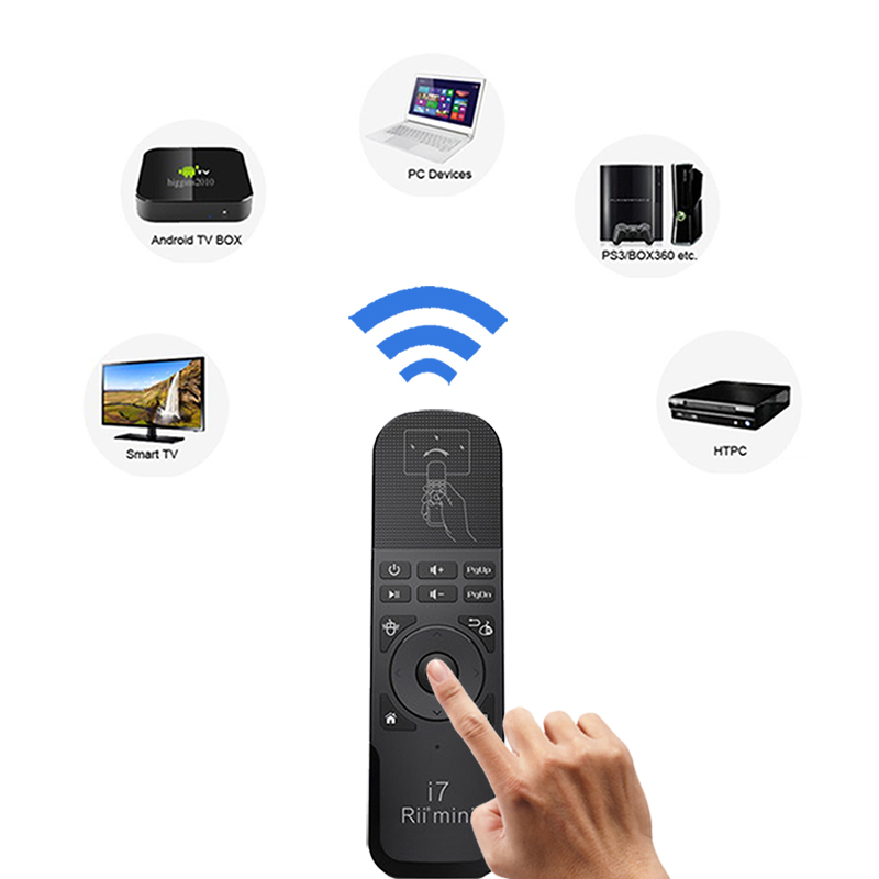 Wireless remote control 2.4G fly air mouse keyboard Bluetooth remote control for tv box laptop pc android tv X360/PS3 tv remote fly e135 grey tv