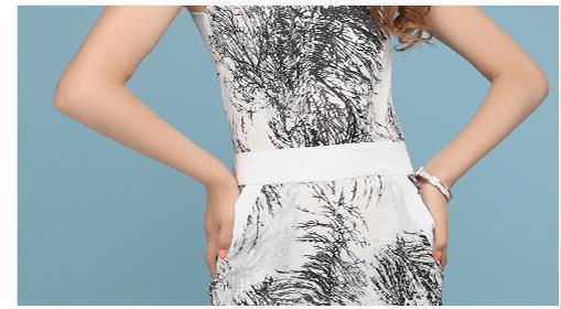 48f13cb8ae9b Summer Womens Designer Fashion Sleeveless Black With White Wide Leg Chiffon  Jumpsuits