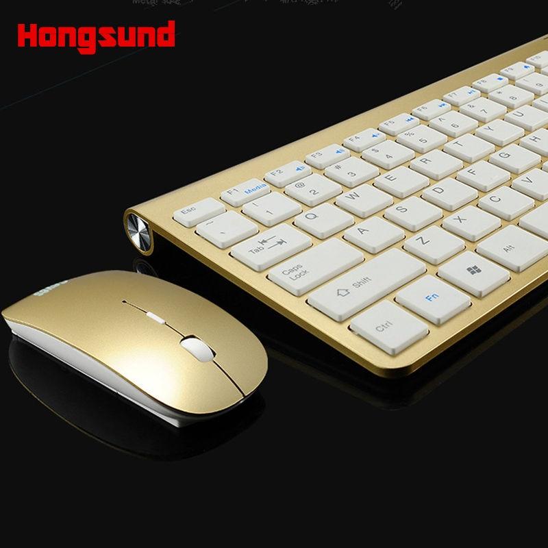 Hongsound clavier sans fil, souris, bureau, ordinateur portable, TV, ordinateur, maison, ensemble de souris clavier sans fil mince
