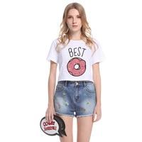 2018 lato Nowy Harajuku kobiety t shirt NAJLEPSZE Koreański styl luźne białe upraw topy kawaii t-shirt kobiet tee topy t-shirt kobiety
