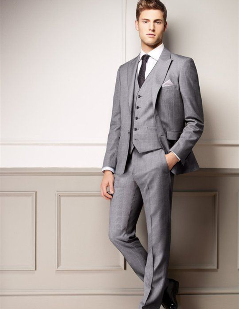 Aliexpress.com : Buy groom suits light grey for wedding ...