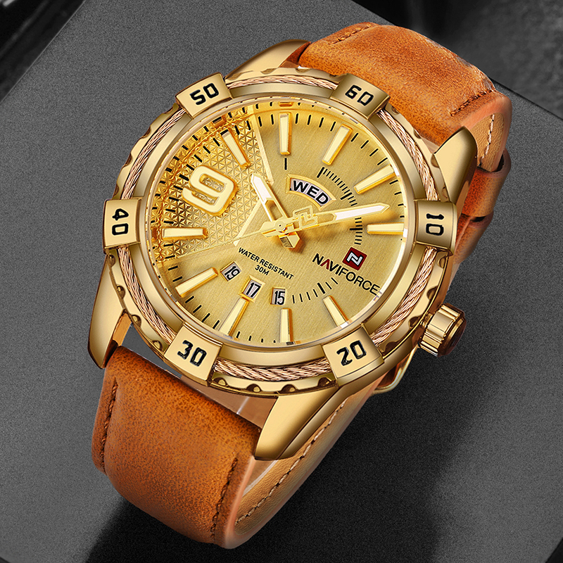 Top Brand NAVIFORCE Sport Watches Men Fashion Casual Quartz Watch Japan Waterproof Date Week Gold Wrist Watch montre homme Clock reloj hombre bosck brand men s watches men fashion casual sport quartz watch mens business wrist watches man clock montre homme