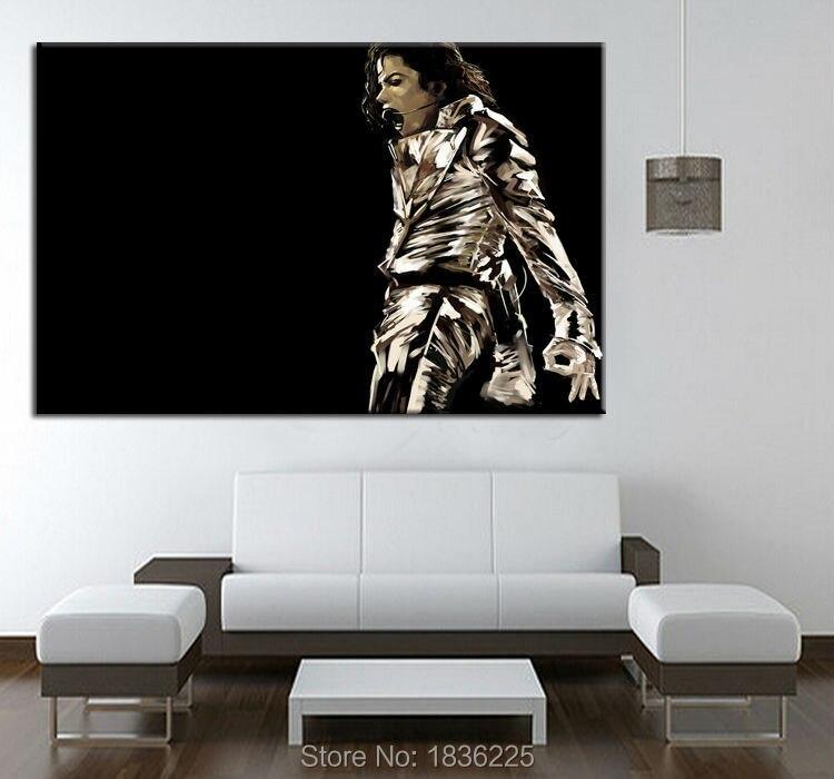 Michael jackson pintura a óleo reprodução da pintura sobre tela para  pinturas parede decoração para casa decoraction 431ababac3
