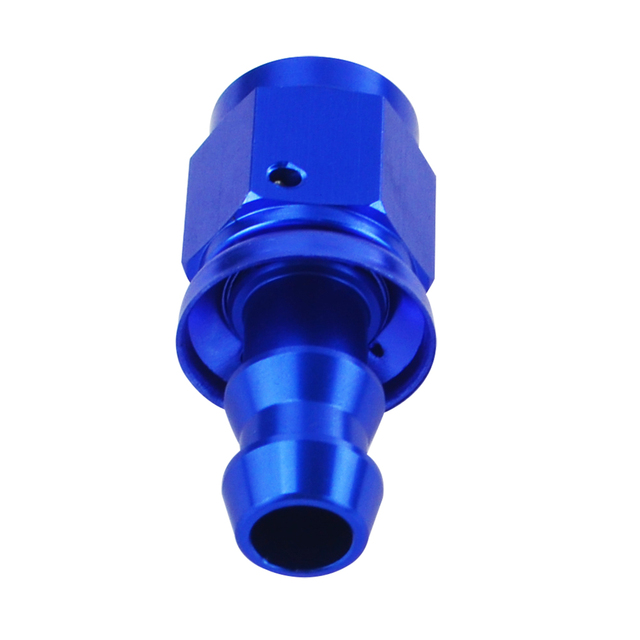 6 AN Straight Push On Lock Socket-less Hose End Fitting 2