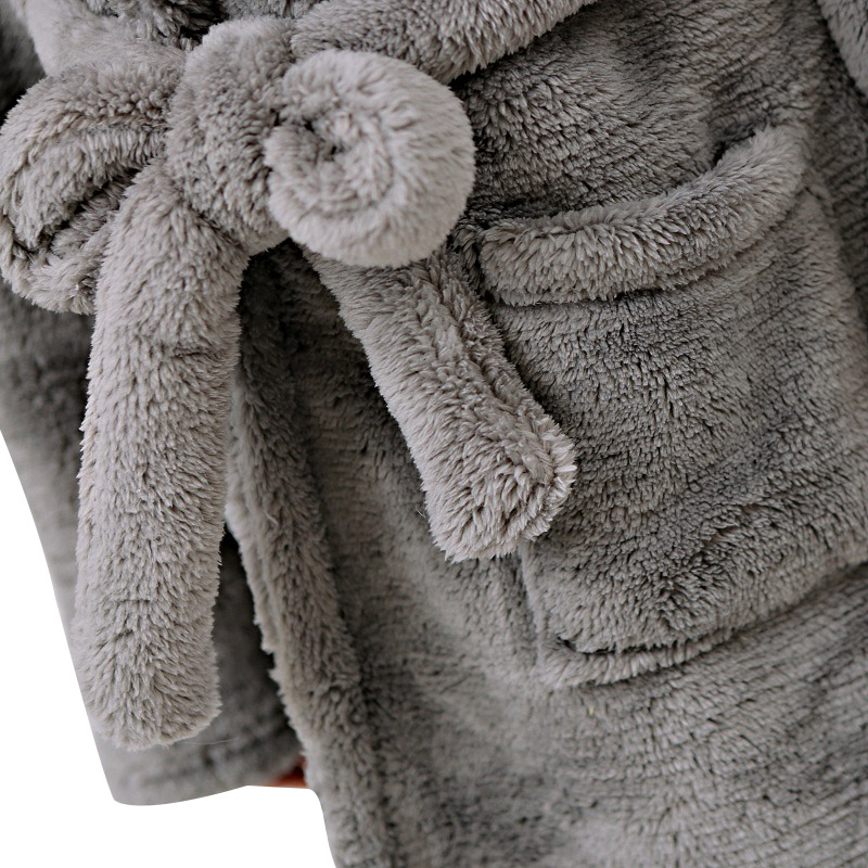 8a5a1284ff Cute Winter Hooded Flannel Elephant Bathrobe For Women Long Sleeve Plus  Size Animal Pyjama Sexy Night Robe Gilrs Dressing Gowns-in Robes from  Underwear ...
