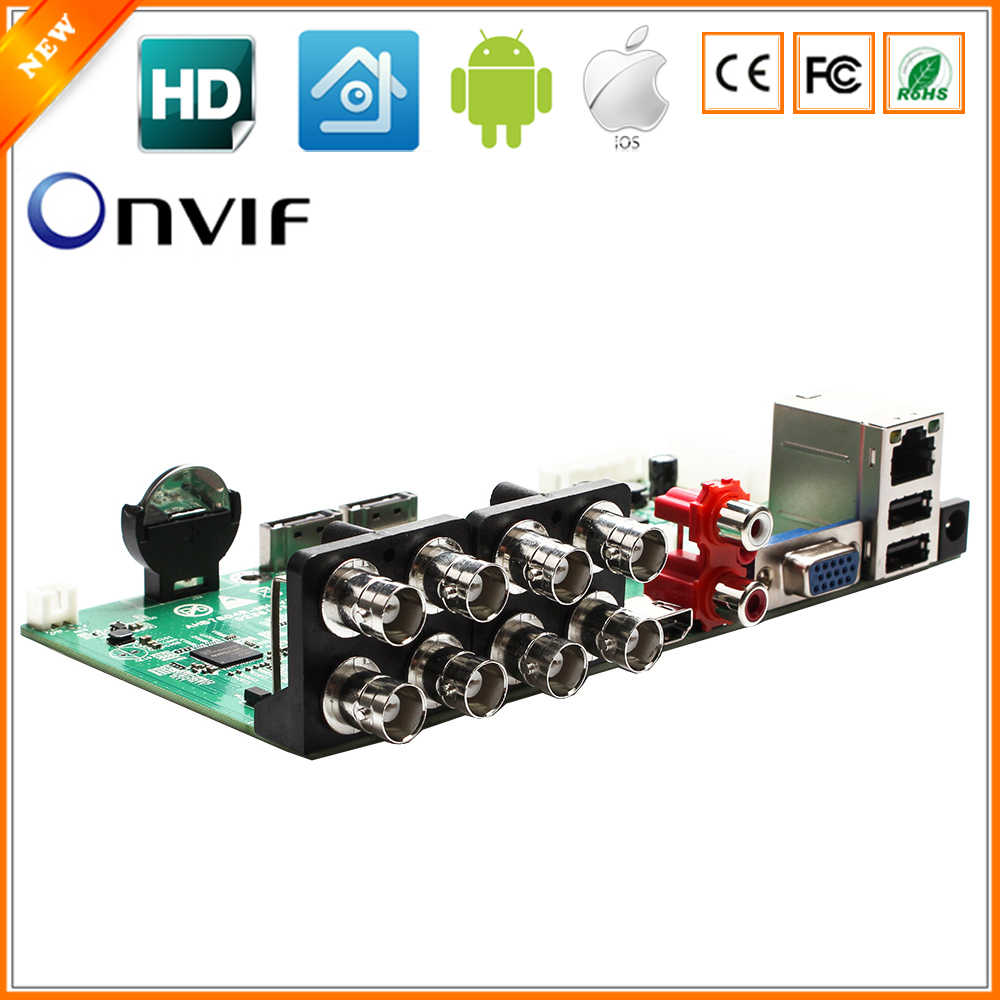 Besder 5 In 1 AHD CVI TVI IP CVBS 8CH CCTV DVR Mini 1080N 8CH Pemutaran 12fps 1 SATA HDD port ONVIF Kamera Perekam Video