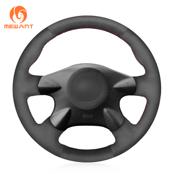 Black Genuine Leather Car Steering Wheel Cover for Nissan Almera (N16) X-Trail (T30) Primera (P12)Terrano 2 Pathfinder Paladin