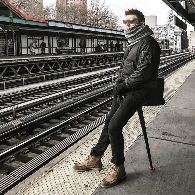 Folding fishing chair Outdoor waiting queue artifact portable subway travel light mini portable seat telescopic