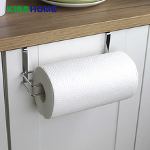 цена на Kitchen Paper Hanger Sink Roll Towel Holder Organizer Rack Stainless Steel Bathroom Roll Paper Shelf Hanging Door Hook Rack