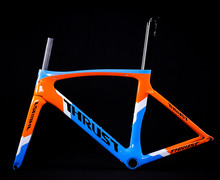 THRUST Cuadro de bicicleta de carretera de carbono, 46, 49, 52, 54, 56, 58cm, PF30, cuadro de bicicleta de carretera, rojo, 8 colores
