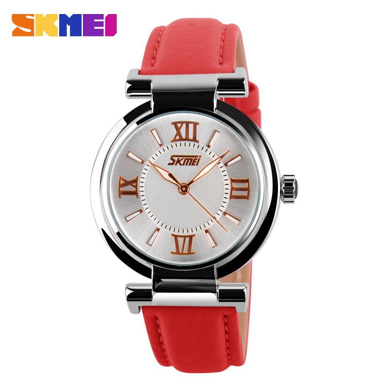 Women Watches 2017 Luxury Brand Skmei Quartz Watch Leather Strap Ladies Wristwatches relogio feminino Original Female Clock new 1 5kw air cooled spindle motor kit cnc spindle motor 220v 1 5kw inverter square milling machine spindle free 13pcs er11