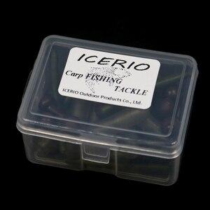 ICERIO 50 шт для рыбалки на карпа, chod Rig защитные рукава свинцовые зажимы горка Heli аксессуары для снаряжения крупный Карп терминальные снасти