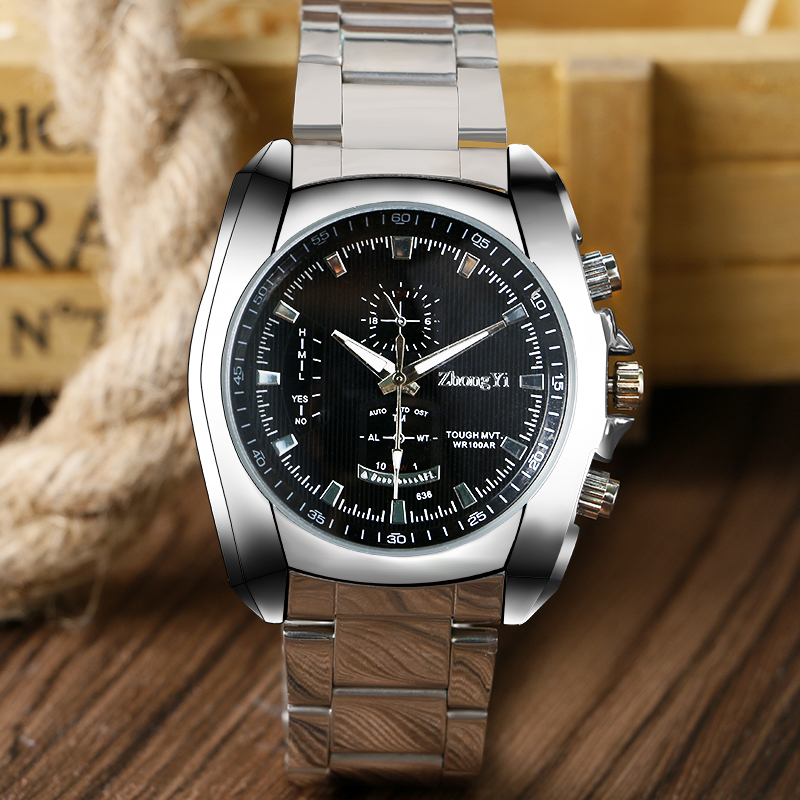 Brand Fashion Steel Watches Men Clock Analog Quartz Dress Wristwatch Military Sport Watch Relogio Masculino