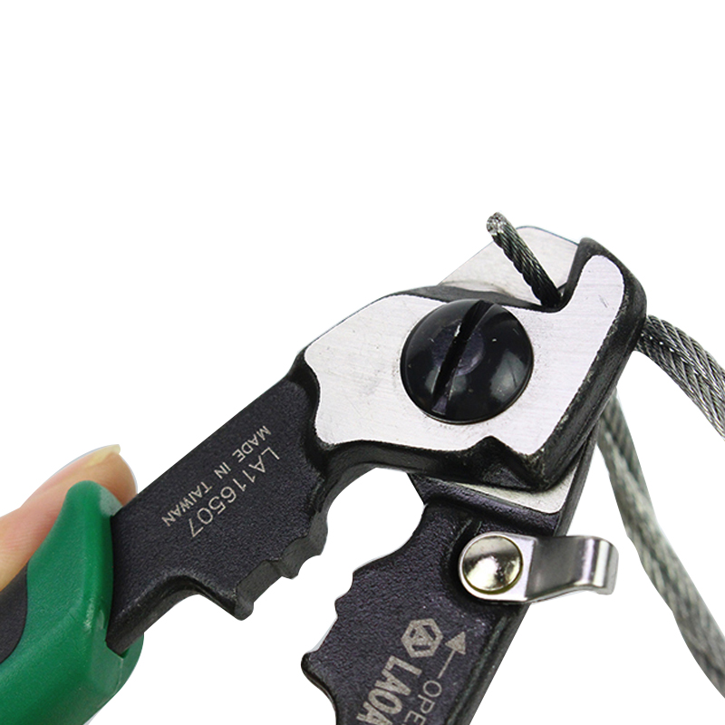 LAOA 7 Inch Cable Cutter CR MO Wire Scissors Wire Cutters Electrical Wire Cable Cutters Stripper Pliers For Electrician