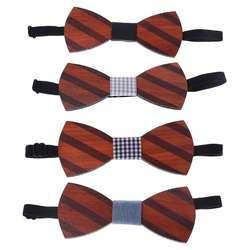 4 стиля Для мужчин модные деревянный галстук-бабочка для джентльмена ручной работы бабочка Свадебная вечеринка галстуки
