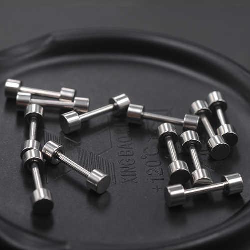 Medyczne 316L zapobieganie alergii Titanium stalowe kolczyki dla mężczyzn i kobiet Party Punk Vintage hantle kolczyki biżuteria prezent