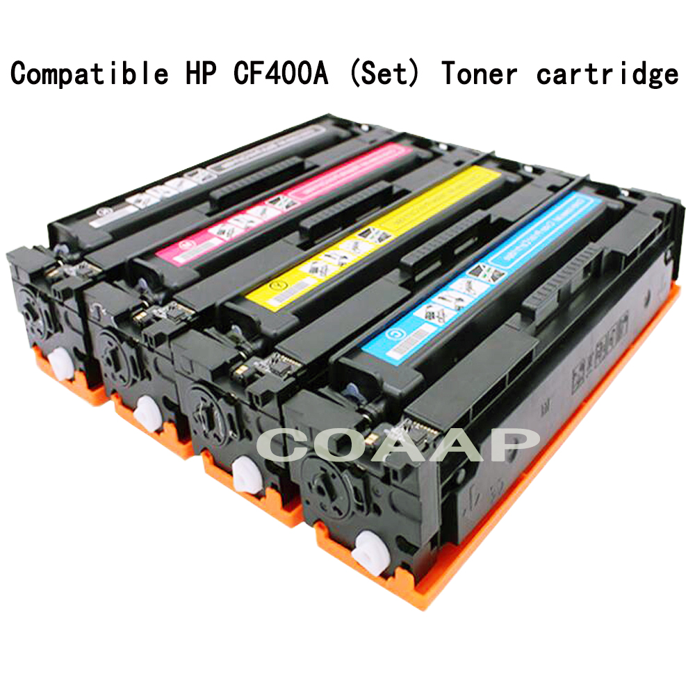 COAAP 201A 201X CF400A CF401A CF402A CF403A (4-Pack) Toner Cartridge Compatible for HP Color LaserJet Pro M252dw M252dn M252n 4 pack high quality toner cartridge for oki c9850 c9850hdn c9850n c9850dn color compatible 42918904 42918903 42918902 42918901