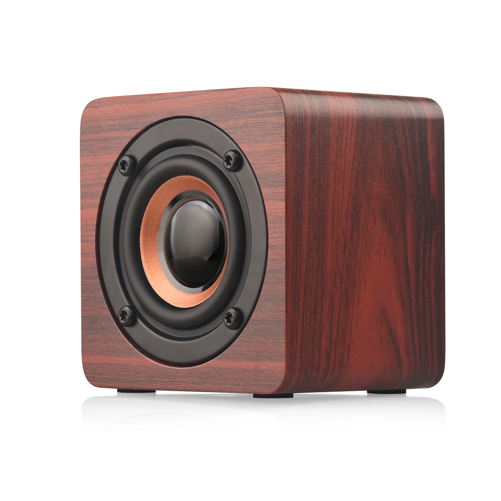 Wooden Bluetooth Wireless Speaker Portable Complex Mini Speaker Subwoofer Strong Bass Powerful Sound Box For PC Mobile Phone
