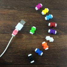 10pcs USB Cable clip Earphone Protector Colorful Earphones Cover For Apple iPhone Samsung HTC Free shipping цена и фото