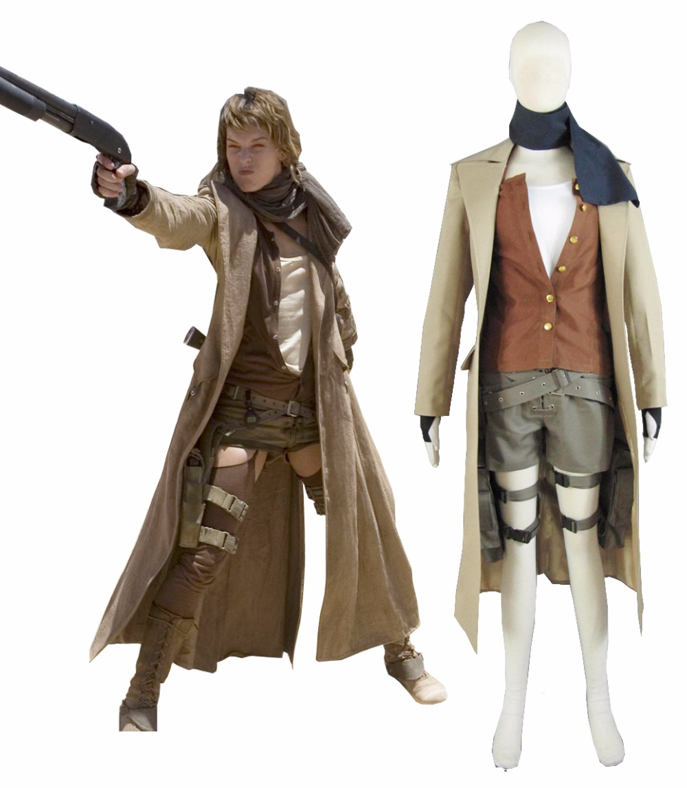 Free Shipping Resident Evil Extinction Alice Uniform Cosplay Film Cosplay Costumes