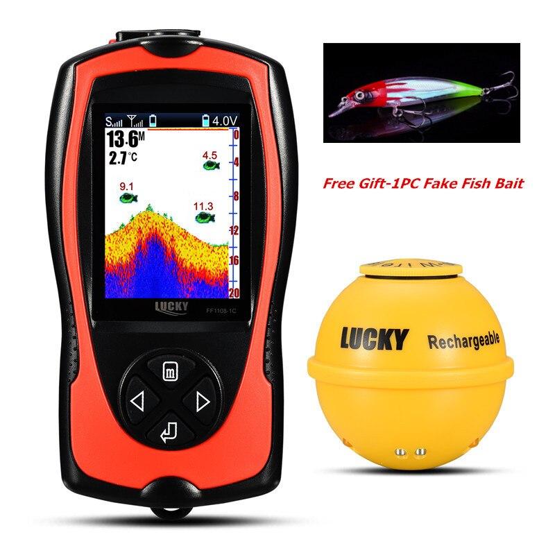 LUCKY FF1108-1CWLA Sonar Fish Finder Light Lure Sensor Alarm System Deeper FishfinderLUCKY FF1108-1CWLA Sonar Fish Finder Light Lure Sensor Alarm System Deeper Fishfinder