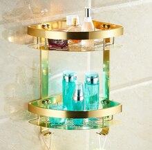 Аксессуары для ванной комнаты, Мода Золото Дизайн Шампунь & Туалет Срок Хранения/Настенный Современная Ванная Комната Корзина/Ванны мебель