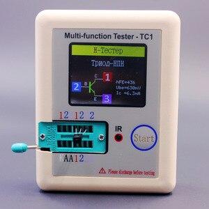 Image 4 - Rosyjski wielofunkcyjny TC1 Tester próbnik elektroniczny trioda dioda TFT miernik pojemności wskaźnika pokrycia wypływów netto ESR NPN PNP MOSFET IR Tester