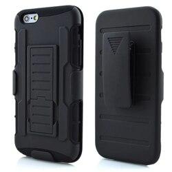 Nouveau pour iphone 6 étui armure militaire en plastique dur couverture de Clip arrière pour iphone 6 Sports de luxe 6G 7G 6 6S 7 Plus 6plus coques de téléphone